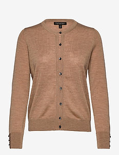 Merino Cardigan Sweater in Responsible Wool - cardigans - camel