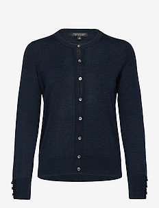 Merino Cardigan Sweater in Responsible Wool - cardigans - navy