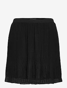 Pleated Mini Skirt - short skirts - black k-100