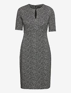 Keyhole Sheath Dress - midi jurken - black leopard