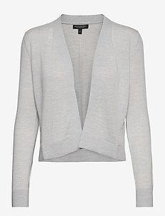 I MERINO OTD CARDIGAN - swetry rozpinane - medium grey hthr b25
