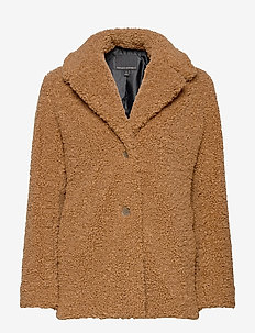Sherpa Jacket - faux fur - toasted marshmallow