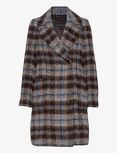 Italian Plaid Topcoat - wool coats - plaid