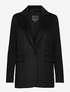 Unlined Double-Faced Jacket - wool coats - black