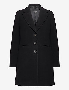 MELTON TOP COAT - wool coats - black 800