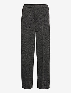 Slim Wide-Leg 24-Hour Ponte Pant - wide leg trousers - grey heather