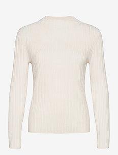 Merino Ribbed Sweater in Responsible Wool - jumpers - vanilla sky