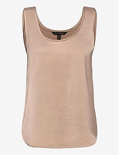 Washed Satin Tank - blouses zonder mouwen - bare