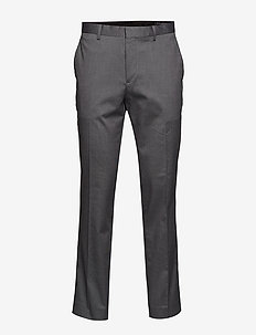 Slim Non-Iron Stretch Cotton Solid Pant - GREY