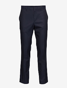 Slim Non-Iron Stretch Cotton Solid Pant - NAVY