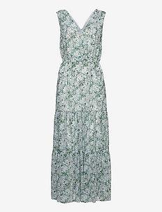 Floral Maxi Dress - hverdagskjoler - br jasmine floral blue