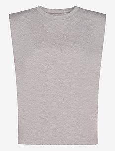 SUPIMA® Padded Shoulder Tank - Ærmeløse toppe - taupe