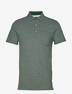 Don't-Sweat-It Polo - MID GREEN HEATHER
