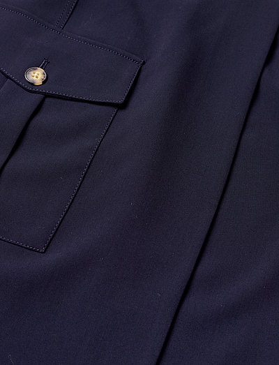 Banana Republic Utility Wrap Skirt- Spódnice Preppy Navy