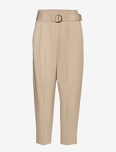 High-Rise Tapered Cropped Pant - casual byxor - stinson sand