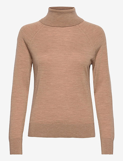 Merino Turtleneck Sweater in Responsible Wool - rullekraver - camel