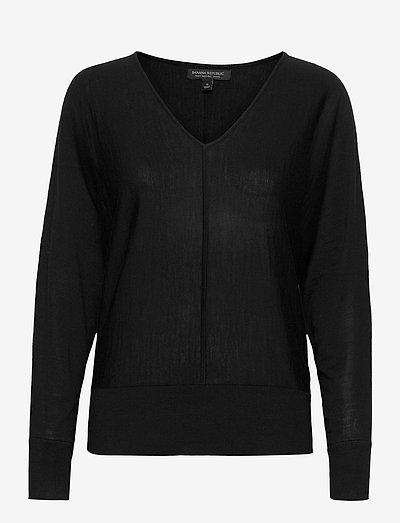 Washable Merino Dolman-Sleeve Sweater - trøjer - black 800