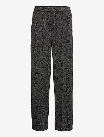 Slim Wide-Leg 24-Hour Ponte Pant - bukser med brede ben - grey heather