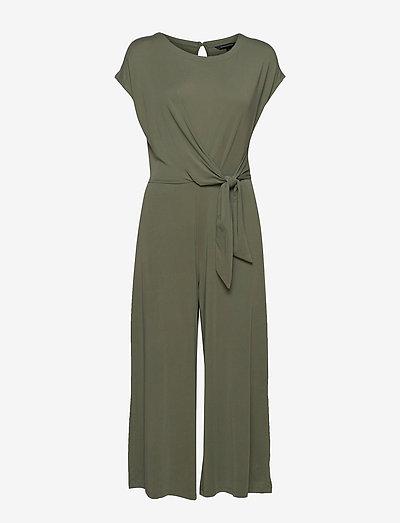 Sandwash Tie-Waist Cropped Jumpsuit - kläder - flight jacket