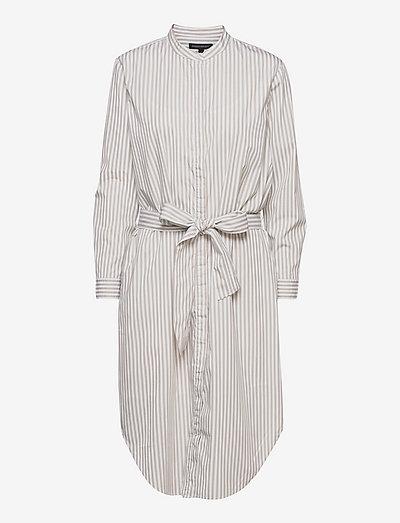 Organic Poplin Shirtdress - vardagsklänningar - white stripe