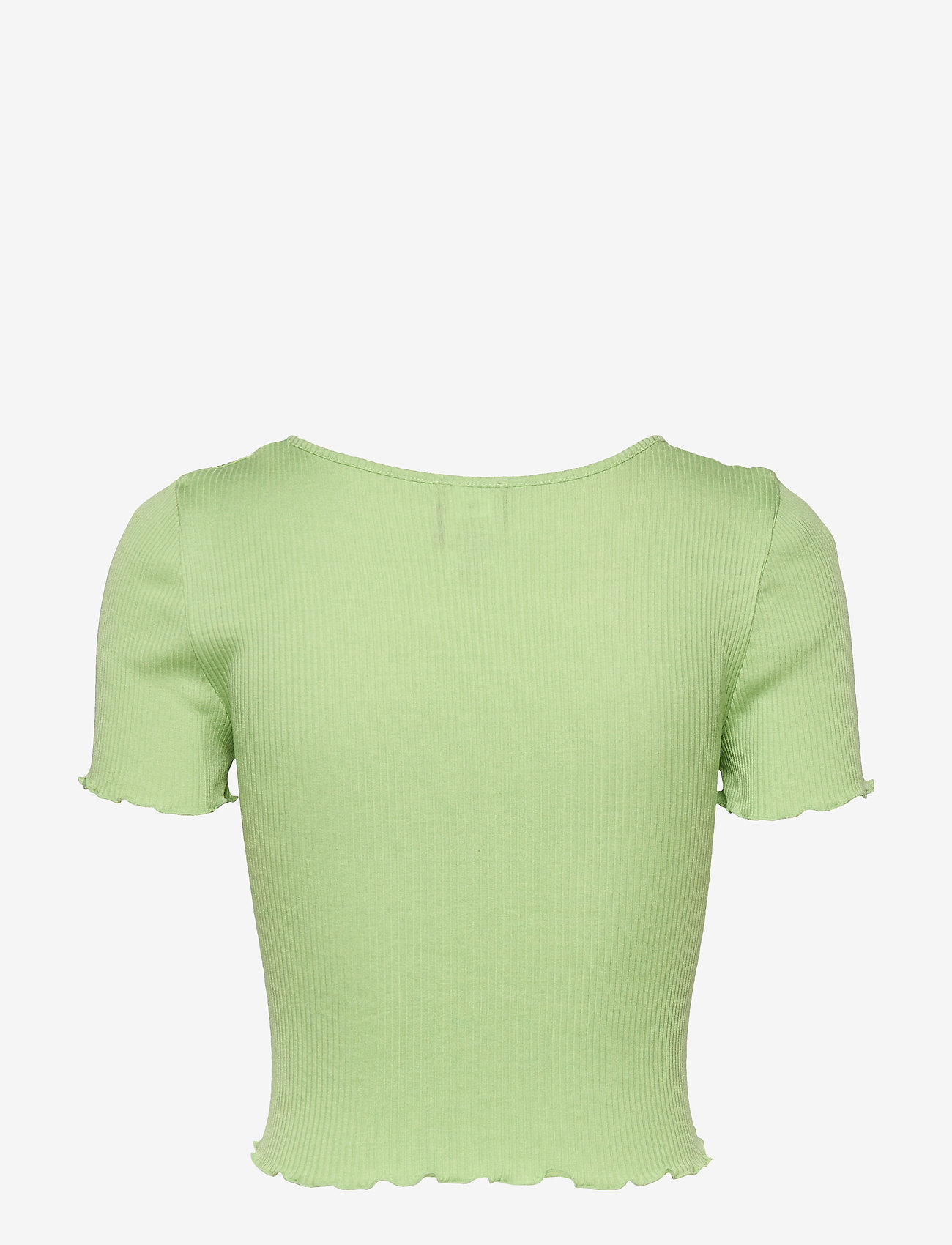 Barbara Kristoffersen by Rosemunde - Silk cardigan ss - crop tops - light pistachio - 1