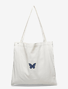 Bag - totes - white w/ medium butterfly