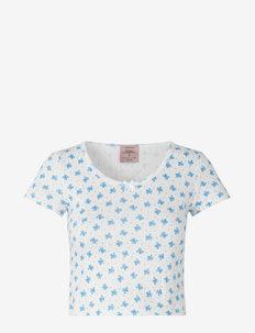 T-shirt ss - t-shirts - white w/ heaven flower