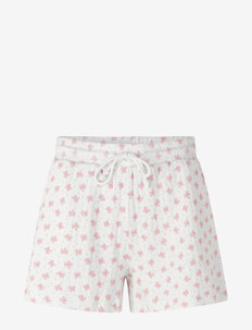 Shorts - casual shorts - white w/ candt pink flower