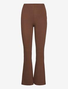 Trousers - bukser med brede ben - chocolate
