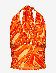 Top - Ærmeløse toppe - orange psychadelic print