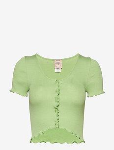 Silk cardigan ss - navel shirts - light pistachio