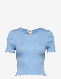 Silk t-shirt short ss - crop-topit - heaven