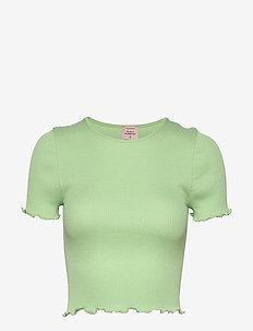 Silk t-shirt short ss - navel shirts - light pistachio