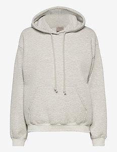 Hoodie ls - hoodies - light grey melange