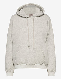Hoodie ls - hupparit - light grey melange