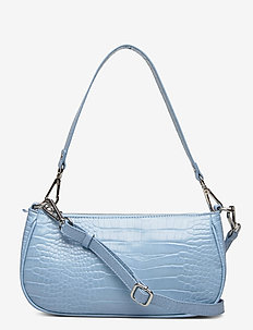 Bag small - top handle tasker - heaven croc silver