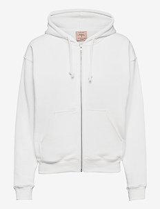 Hoodie full zip ls - hættetrøjer - new white