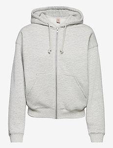 Hoodie full zip ls - pulls à capuche - silver grey melange
