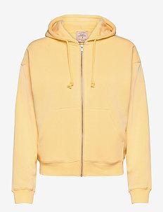 Hoodie full zip ls - bluzy z kapturem - sunligth yellow