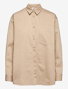 Shirt ls - chemises à manches longues - sand