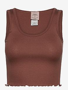 Silk top short - hauts courts - chocolate brown
