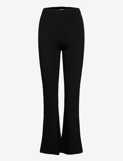 Trousers - vide bukser - black