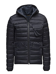 B.Intl Ouston Hooded Quilt (SL) - NAVY