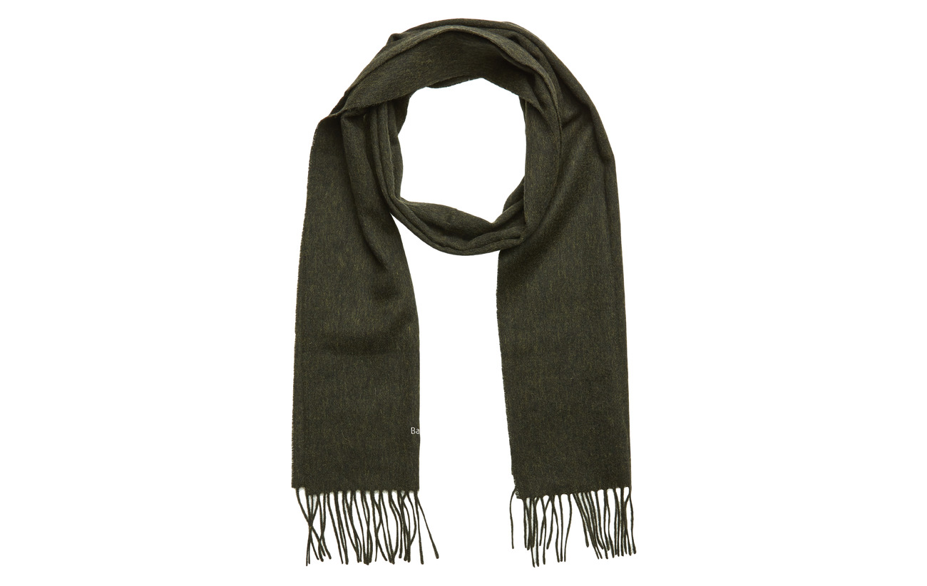 Barbour Plain Lambswool Scarf - GREEN