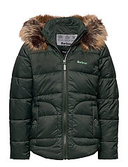 Barbour Girls Dover Qu - ISLE GREEN