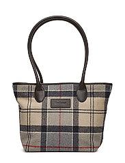 Barbour Dee Tartan Handbag - CARAMEL TARTAN