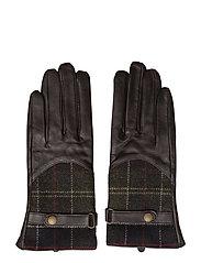 Barbour Dee Tartan Glove - BROWN
