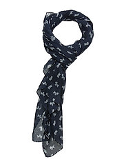 Barbour Dog Print Wrap - NAVY/CLOUD