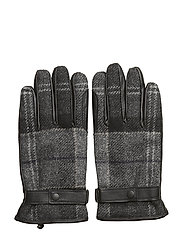 Barbour Newbrough Tartan Glove - BLACK/GREY