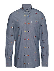 Barbour Chambray Flag - INDIGO
